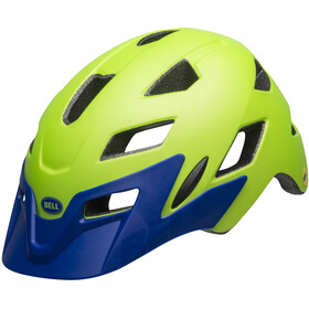 Bell Sidetrack MIPS Helmet Youth matte bright green/blue